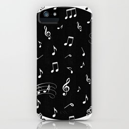 Music White and Black iPhone Case