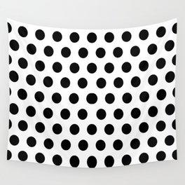 Polkadots (Black & White Pattern) Wall Tapestry