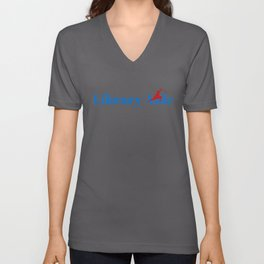 Library Aide Ninja in Action Unisex V-Neck