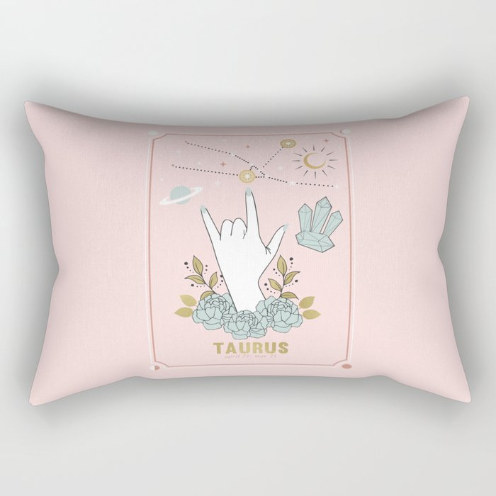 Taurus Zodiac Series Rectangular Pillow