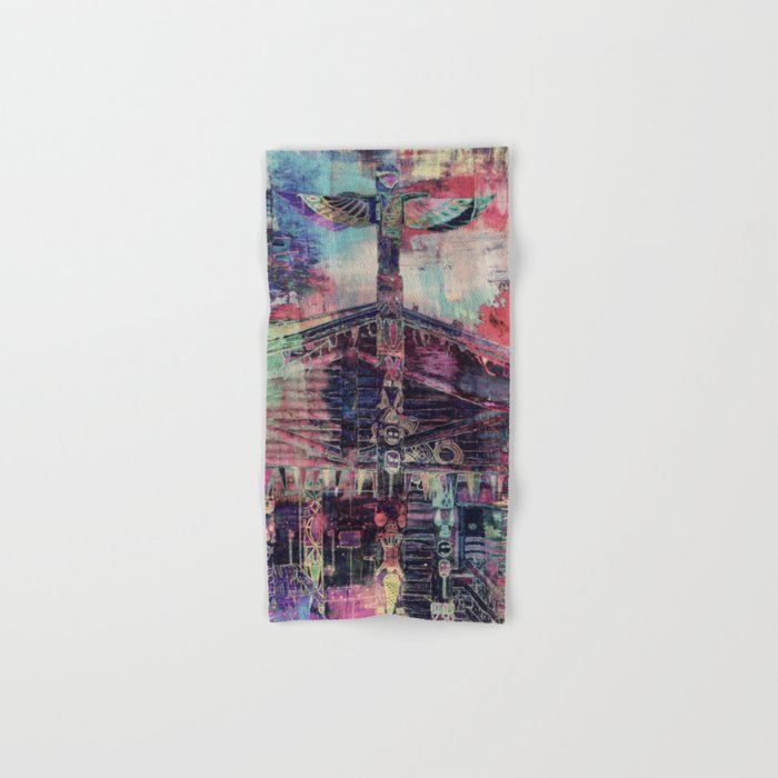 Totem Cabin Abstract - Multi Hand & Bath Towel