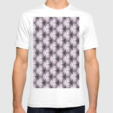 pttrn4 MEDIUM White Mens Fitted Tee