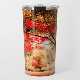 Red Maple in Larz Anderson park. Travel Mug