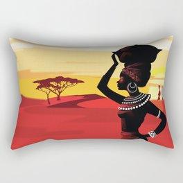 African Landscape No. 2 Rectangular Pillow
