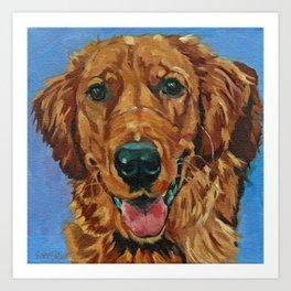 Coper the Golden Retriever Dog Portrait Art Print