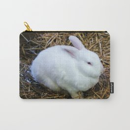 White Bunny Carry-All Pouch