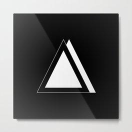 Abstraction 016 - Minimal Geometric Triangle Metal Print