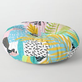 abstract palm leaves Floor Pillow