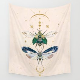 Moon insects Wall Tapestry
