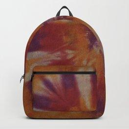 Tie Dye Orange Purple Red Backpack