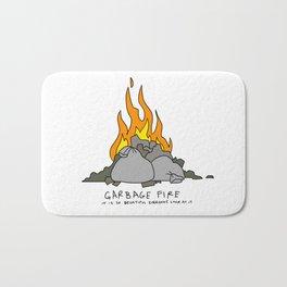 garbage fire Bath Mat