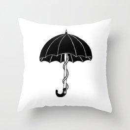 Secret parasol Throw Pillow