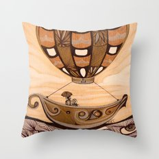 Up She Goes Throw Pillow