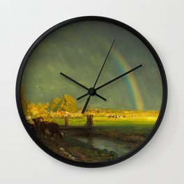 The Rainbow by Willem Roelofs (1875) Wall Clock