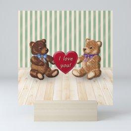I Love You Beary Much! Mini Art Print