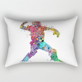 Baseball Softball Catcher 3 Art Sports Poster Rectangular Pillow