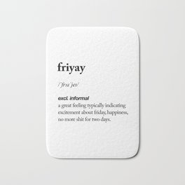 Friyay black and white contemporary minimalism typography design home wall decor bedroom Bath Mat