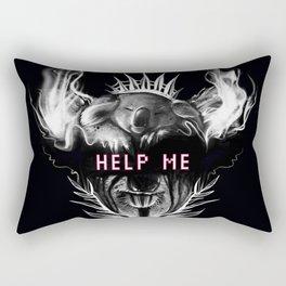HELP ME !!! Koala, Koalaart, Animal, Black,Minimal,Interior, Black White,Wall art, Art Print,Trendy Rectangular Pillow