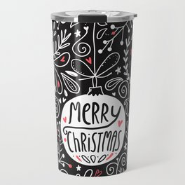 Merry Christmas doodles Travel Mug