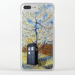 Starry Night of Tardis Clear iPhone Case