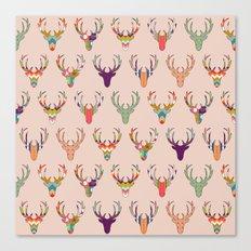 retro deer head blush Canvas Print