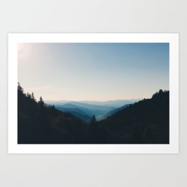 Smokey Mountain dusk Art Print