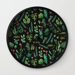 dark nature garden Wall Clock