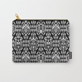 Ethnic African Tribal pattern on black Carry-All Pouch
