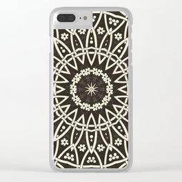 Circular Mosaic Clear iPhone Case
