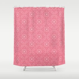 """Magnolia ~ Amaranth Red"" - (Original Digital Artwork by Vincent Ferraro) Shower Curtain"