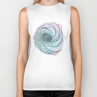 shell Biker Tanks featuring Shell by Brontosaurus
