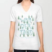wonderland V-neck T-shirts featuring Wonderland by Nick Volkert