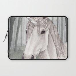 Unicorn Within the Misty Forest Laptop Sleeve
