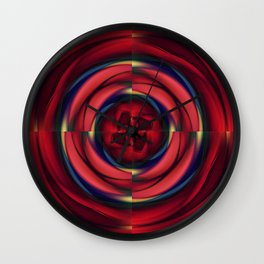 War of the Roses Wall Clock