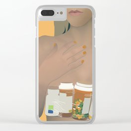 Digital Druglord-Blackbear Clear iPhone Case