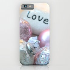 Romantic Shabby Chic Holiday Christmas Ornaments Love Print and Home Decor iPhone 6s Slim Case
