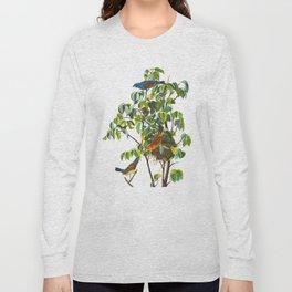Blue Grosbeak Bird Long Sleeve T-shirt