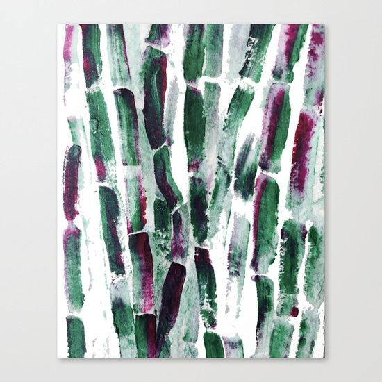 Greenery and Purple Art Sugar Cane Canvas Print