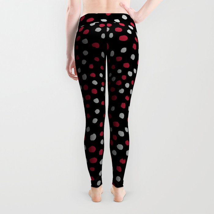 Dots Bama alabama crimson tide pattern gifts for university of alabama students and alumni Leggings