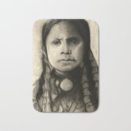 Portrait of Standing Holy Bath Mat