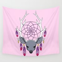 dreamcatcher Wall Tapestries featuring Dreamcatcher by Freeminds