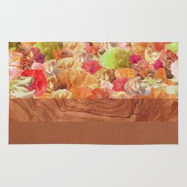 Layers Floral Wood Rug