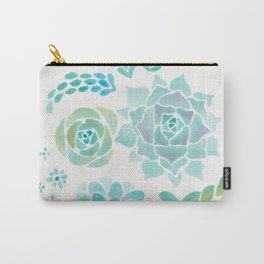 Watercolor Succulent Garden 1 Carry-All Pouch