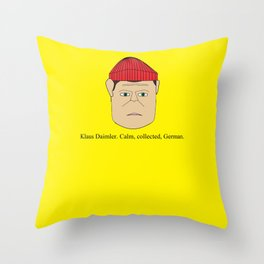 Klaus Daimler. Calm, collected, German. Throw Pillow