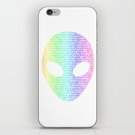 Alien Typograph iPhone Skin