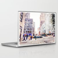 nyc Laptop & iPad Skins featuring NYC by Christine Workman
