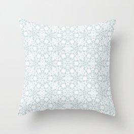 Airy Cloud Snow Flake. Throw Pillow