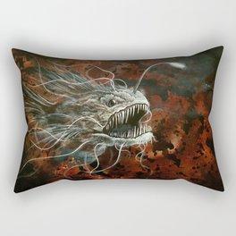 angry angler fish Rectangular Pillow