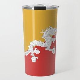 Bhutan flag emblem Travel Mug