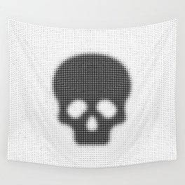Halftone Skull Wall Tapestry
